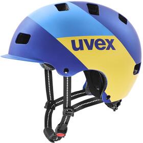 UVEX hlmt 5 Bike Pro Casco, blue energy mat